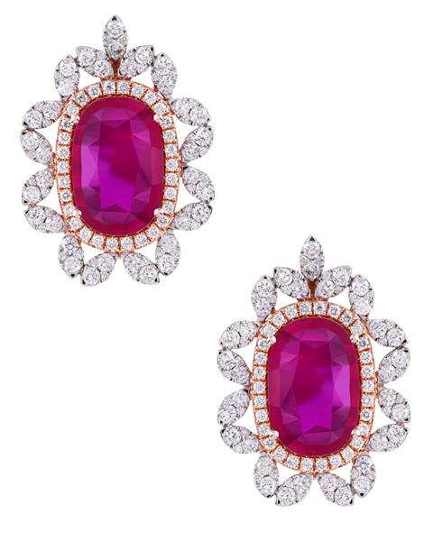 Photo of Diamond and Ruby Earrings