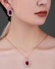 Photo of diamond and ruby half set