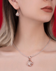 Photo of rose gold diamond half set