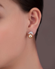 White Gold Japanese Pearl Earrings