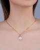 rose gold pearl pendant