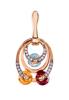 Multi color stone earrings