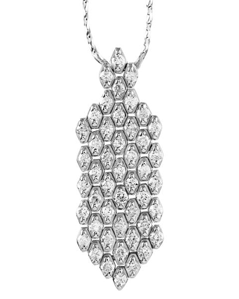 round cut diamond pendant