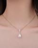 women's pearl and diamond pendant