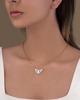 Rose Gold Butterfly Pendant