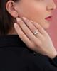 rose gold shell ring