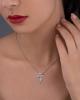 F letter diamond pendant
