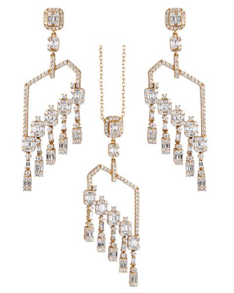 chandelier diamond half set