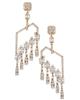 chandelier rose gold diamond half set