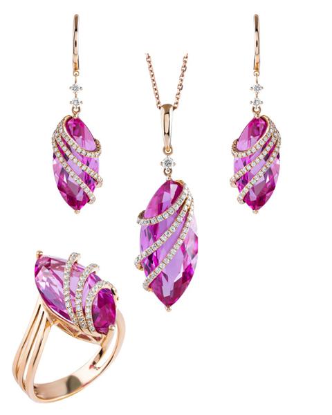 quartz and diamond set