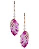 marquise cut quartz and diamond earrings