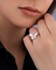 fancy cut white shell ring