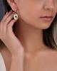 drop round cut diamond earrings