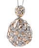 flower rose gold pendant