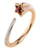 rose gold Ruby star ring