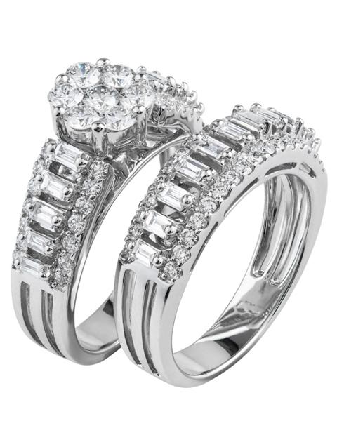 Wedding diamond double ring