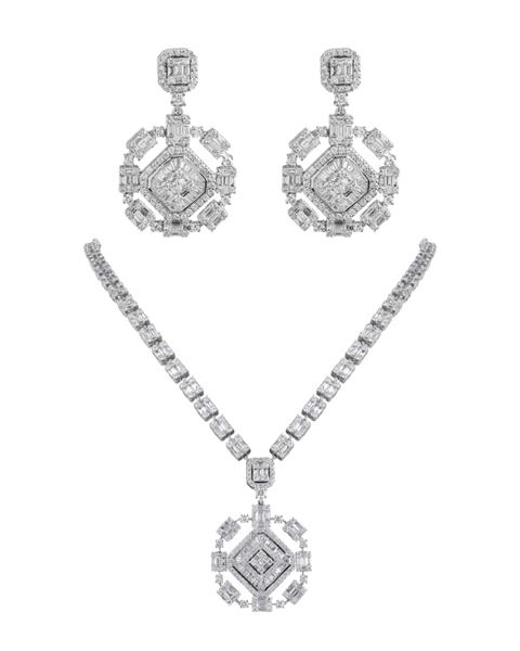 white gold diamond half set
