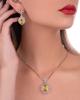 white gold yellow sapphire half set
