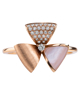 rose gold diamond and pink shell ring
