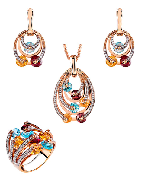 rose gold diamond set