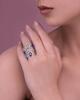 white gold diamond and garnet ring