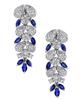white gold marquise cut sapphire earrings
