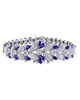white gold diamond and marquise cut sapphire bracelet