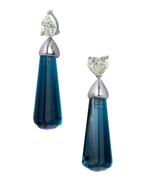white gold topaz earrings