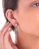 white gold diamond and London blue  topaz earrings
