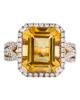 rose gold citrine ring
