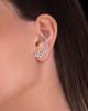 white gold emerald cut diamond earrings